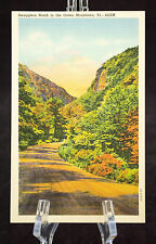 Postcard Smugglers Notch In The Green Mountain Vermont Linen