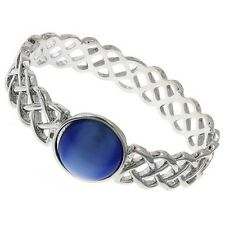 OFFICIAL MARVEL COMICS THOR BLUE STONE BANGLE - Silver Tone Bracelet