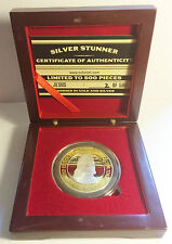 """NEW 2015 """"JESUS"""" 43mm """"SILVER STUNNER"""" TOKEN/COIN, With Wood Display Box C.O.A."""