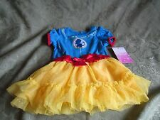 Disney Princess Snow White Costume Red Blue Yellow Sparkle One Button 12 month
