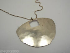 "Silpada Sterling Silver ""Big Dreamer"" Hammered Disc Pendant w/ chain & extender"