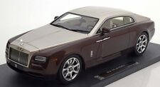 2015 Rolls Royce Wraith  Brown met. /Beige met in 1/18 Scale by Model 777 New!