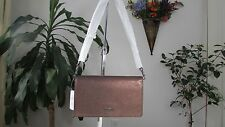 NWT Coach  Pebble Leather Foldover Crossbody Bag 55775 Bronze