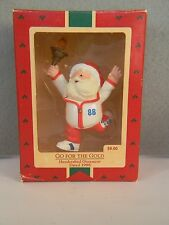 GO FOR THE GOLD - Santa Claus Olympic Torch Runner - HALLMARK KS ORNAMENT - 1988