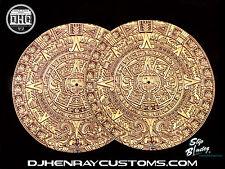 DHC SLIP BLADEZ scratch Dj Slipmats Aztec Calendar sl1200mk2 mk5 m3d m5g technic
