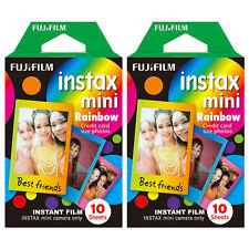 20 Shots Fuji Instax Mini Rainbow Film for Fujifilm Mini 8 7s & Mini 90, 50
