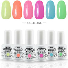 Any 6pcs Shiny UV Gel Nail Polish Set Soak off Nail Art Varnish Kit Manicure DIY