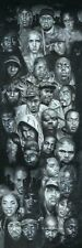 Hip Hop Faces SLIM POSTER Snoop Eminem Dre 2Pac 50 Cent Notorious Slick Puffy