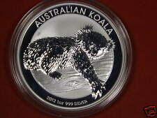 2012 Australian Koala Brilliant Uncirculated Co 1 oz 999 Silver coin in air-tite