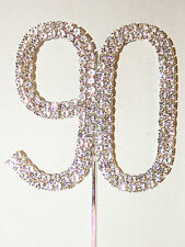 Number 90, Large, Diamante Cake Topper. Stunning Birthday Celebration Cakes