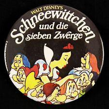 """1990s Disney's """"Schneewittchen und die sieben Zwerge"""" Spanish 3"""" Pinback Button"""