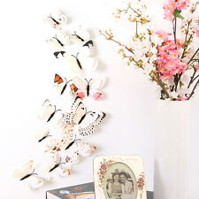 WH 12pcs 3D Butterfly Design Decal Art Wall Stickers Room Decorations Home Decor
