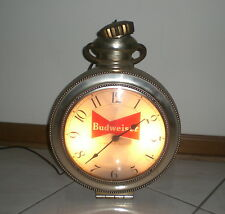 BUDWEISER BEER ELECTRIC POCKET - WATCH STYLE CLOCK  - VINTAGE