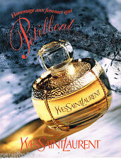 PUBLICITE ADVERTISING 065  1995  YVES SAINT LAURENT parfum femmes qui  pétillent
