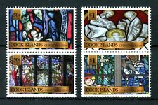 Cook Islands 2016 MNH Christmas Nativity Stained Glass 4v Set in Pairs Stamps