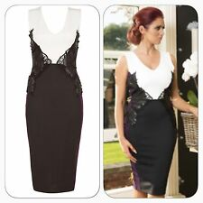 BNWT Amy Childs Tilly Embroidered Lace Bodycon Occasion Evening Pencil Dress 10