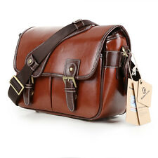 Women's Waterproof Vintage PU Leather DSLR SLR Camera Bag Padding Bag For Canon