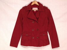 Mossimo double breasted lined mulberry cotton P coat / women's S / nice / b46