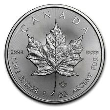 2016 1oz Canadian Silver Maple leaf coin with Micro Engraved Security Feature