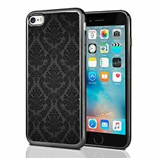 Black Damask Print For Iphone 7 Case Cover By Atomic Market