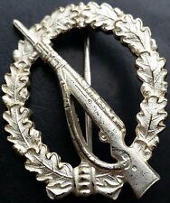 ✚7341✚ German Wehrmacht Infantry Assault Badge Silver post WW2 1957 pattern ST&L