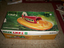 VINTAGE DUX LKF I Styrofoam remote control Hovercraft from 1960s w box for parts