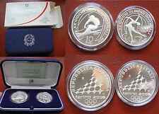 REPUBBLICA ITALIANA IPZS DITTICO 5 €+10 € PROOF GIOCHI OLIMPICI TORINO 2006-Ia