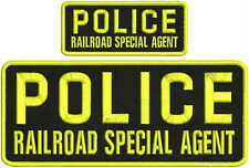 Police Railroad special agent embroidery patches 4x10 And 2x5 hook