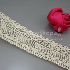 New 5 Yards 45mm Cotton lace Trim Dress Lace Trim Cotton/Cluny Lace Beige YD0535