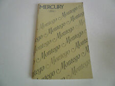 1975 Mercury Montego Owner Guide - Glove Box