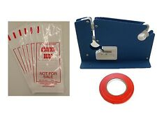 GROUND BEEF MEAT PACKING KIT- TAPE MACHINE, TAPE, 200 1LB GROUND BEEF BAGS