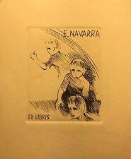 EX LIBRIS ORIGINALE EVARISTO NAVARRA CM 125X100