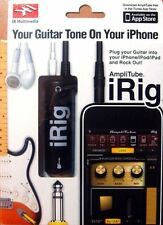 New iRig Guitar Interface for iPhone iPad - IK Multimedia Amplitube Guitar Bass