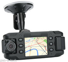 Dual Camera Car DVR 2x 180 Degree Rotating Camera: G-Sensor, GPS 140 Degree Lens