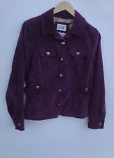 Live A Little Women's Plum Stretch Corduroy Jacket Size-PL