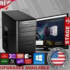New FAST Custom Desktop Computer System 8GB RAM 240GB SSD 3.9GHz Windows 10 HD