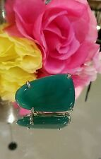 Kendra Scott Emerald Green Statement Cocktail Ring. Rare HTF  Size 7