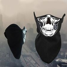 Bicycle Ski Skull Half Face Mask Ghost Scarf Multi Use Neck Warmer Outdoor