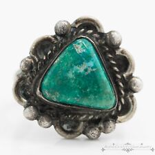 Antique Vintage Sterling Silver Native Navajo Broken Arrow Turquoise Ring! Sz 6