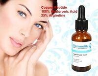 COPPER PEPTIDE 100% HYALURONIC ACID 25% ARGIRELINE AGE REVERSAL FIRMING SERUM