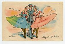 WW1. ROYAL AIR FORCE. PIN-UP . Charme militaire . Military Charm. MARCEL BLOCH