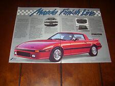 1984 MAZDA RX7 ***ORIGINAL 2 PAGE AD*** RX-7