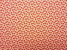 ITS ELLIES CREAM BURNT ORANGE ELEPHANTS 100% COTTON LAWN DRESSMAKING FABRIC