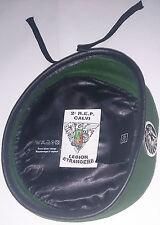Béret Vert avec insigne TAP PARA 2°REP LÉGION ÉTRANGÈRE Taille/Size XXL / TT 60