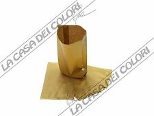 BUSTE IN CARTA - COLORE ORO - 8x15+3,5cm - 10 PEZZI