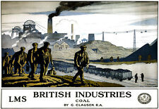 British Industries Coal LMS Railway A3 Art Poster Print