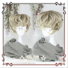 Japanese Vintage Harajuku Gothic Lolita Cool Men Short Curly Cosplay Daily Wig