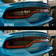 2015-2017 Dodge Charger Hellcat R/T Smoked Taillight Tint Overlay Kit