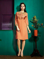 Western type Indian designer kurti stylish tunic tops with sleeves size XL