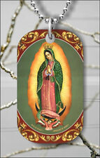 LADY OF GUADALUPE VIRGEN #3 DOG TAG PENDANT NECKLACE FREE CHAIN -dre2X